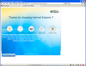 ie on firefox